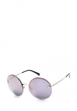 Очки солнцезащитные Versace. Цвет: серебряный
