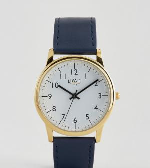 Limit Часы с золотистым циферблатом и темно-синим ремешком эксклюзивно. Цвет: темно-синий