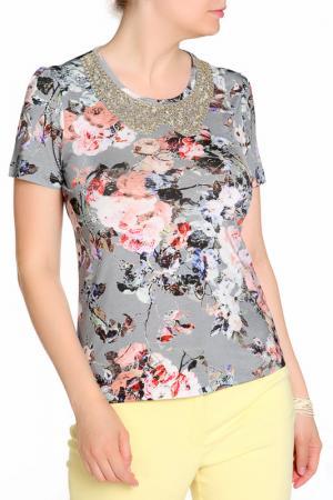 Блуза LOLA PALTINGER. Цвет: серый
