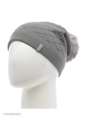 Биатрис Беркле шапка женская с помпоном Berkle. Цвет: темно-серый