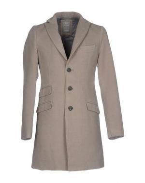 Пальто YES ZEE by ESSENZA. Цвет: светло-серый