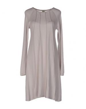 Короткое платье SIYU. Цвет: голубиный серый