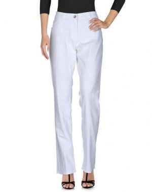 Джинсовые брюки LAURÈL. Цвет: белый