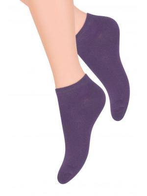 Носки женские Steven. Цвет: темно-фиолетовый, фиолетовый