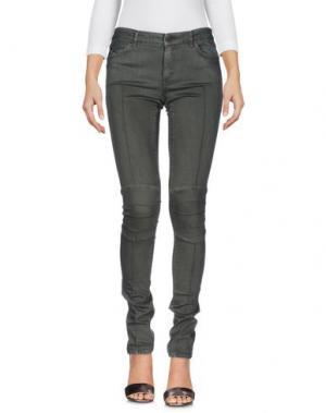 Джинсовые брюки SUPERFINE. Цвет: зеленый-милитари