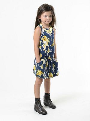 Платье Imoga. Цвет: темно-синий