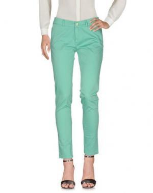 Повседневные брюки TRY ME. Цвет: светло-зеленый