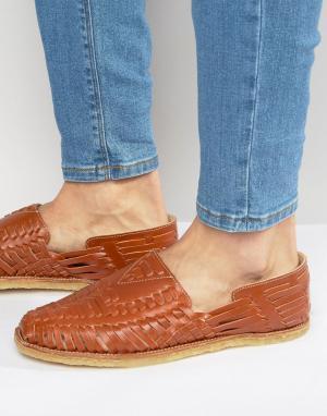 Toms Кожаные сандалии Huaraches. Цвет: коричневый