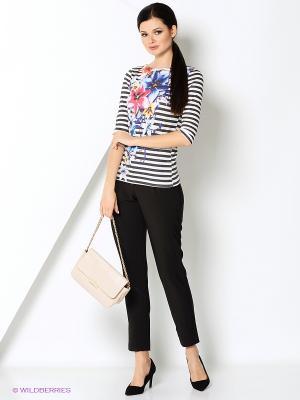 Лонгслив Taya jeans. Цвет: белый, синий