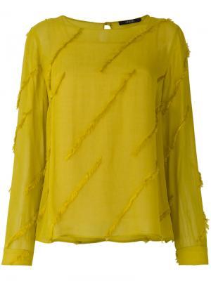 Блузка с бахромой Odeeh. Цвет: жёлтый и оранжевый