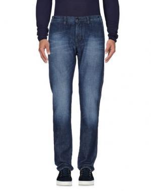 Джинсовые брюки CANTARELLI. Цвет: синий
