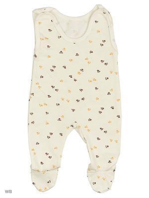 Ползунки Babycollection. Цвет: бежевый, молочный, коричневый