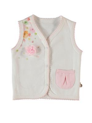 Жилет детский Bi Baby. Цвет: розовый