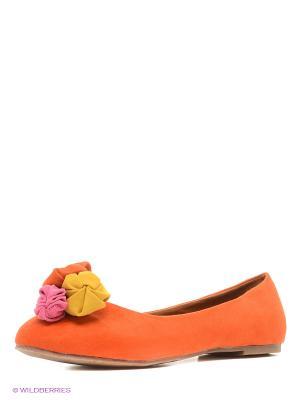 Балетки VIVIAN ROYAL. Цвет: оранжевый