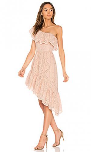 Платье pamela party LoveShackFancy. Цвет: розовый