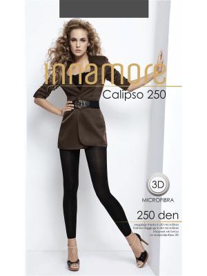 Леггинсы Calipso 250 grigio scuro Innamore. Цвет: серый