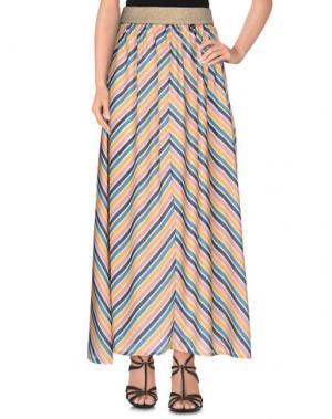 Длинная юбка SOUVENIR. Цвет: оранжевый