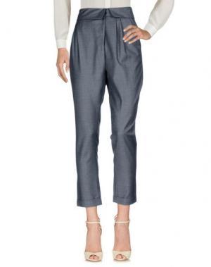 Повседневные брюки MIGUEL PALACIO for HOSS INTROPIA. Цвет: свинцово-серый