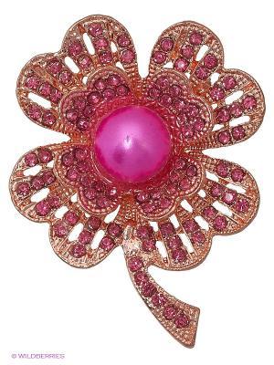 Брошь Royal Diamond. Цвет: розовый