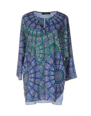 Блузка FISICO-CRISTINA FERRARI. Цвет: синий