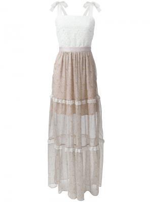 Платье с цветочным узором на юбке Perseverance London. Цвет: многоцветный