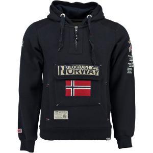 Свитшот с капюшоном GEOGRAPHICAL NORWAY. Цвет: синий морской,черный