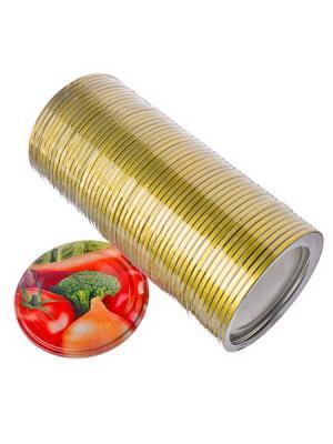Крышка металлическая для консервирования Vetta. Цвет: золотистый
