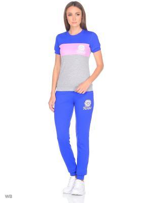 Спортивный костюм ModaGrata. Цвет: синий, розовый