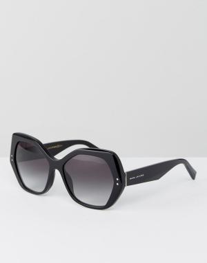 Marc Jacobs Большие черные солнцезащитные очки кошачий глаз. Цвет: черный