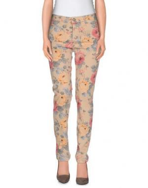 Повседневные брюки REIKO. Цвет: песочный