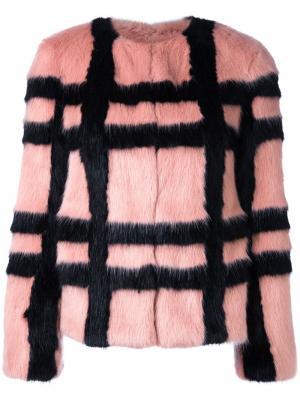 Укороченная куртка Gustav Shrimps. Цвет: розовый и фиолетовый