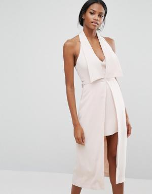 C/meo Collective Платье Redefine. Цвет: розовый