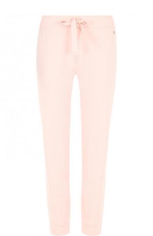 Однотонные хлопковые брюки с эластичным поясом Deha. Цвет: бежевый
