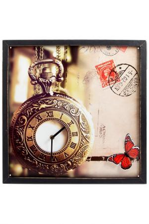 Часы настенные 43x43x2 см Русские подарки. Цвет: золотой, бронзовый, белый