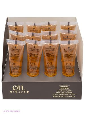 Согревающее масло BC Oil Miracle 12*10 мл Schwarzkopf Professional. Цвет: желтый
