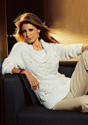 Пуловер Together. Цвет: кремовый