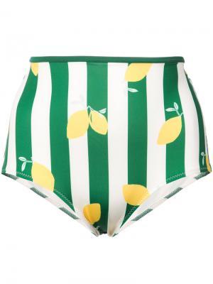 Верх бикини  Brigitte Solid & Striped. Цвет: зелёный