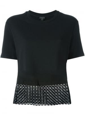 Блузка с контрастным подолом Giambattista Valli. Цвет: чёрный