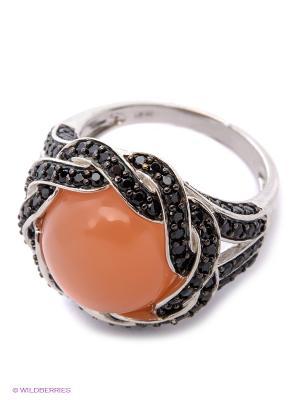 Кольцо BALEX. Цвет: оранжевый, серебристый