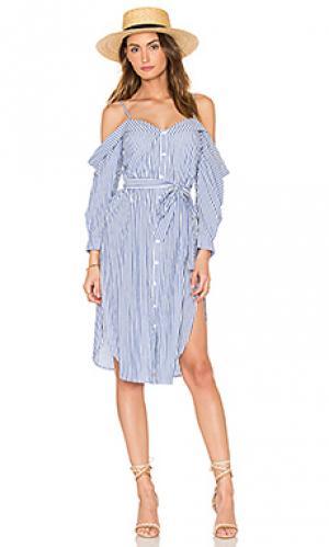 Платье в полоску paloma Bardot. Цвет: синий