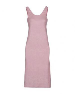 Платье длиной 3/4 AMERICAN RETRO. Цвет: розовый
