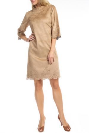Платье TOK. Цвет: бежевый