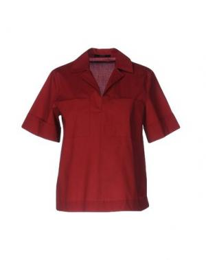 Блузка SEVENTY by SERGIO TEGON. Цвет: красно-коричневый