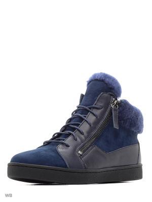 Ботинки MILANA. Цвет: синий, серый