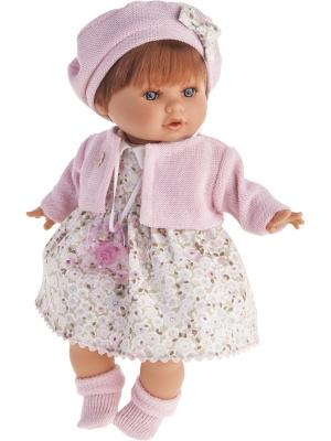 Кукла Кристиана в розовом, плачущая, 30 см Antonio Juan. Цвет: бледно-розовый