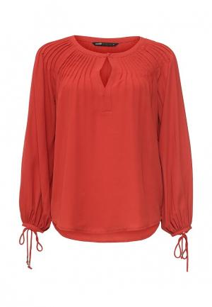 Блуза oodji. Цвет: оранжевый