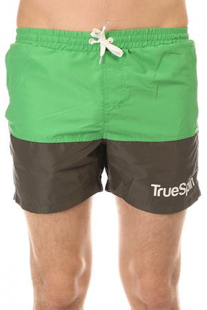 Шорты пляжные  Core Shorts Green/Grey TrueSpin. Цвет: зеленый,серый