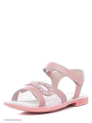Сандалии Flamingo. Цвет: бледно-розовый