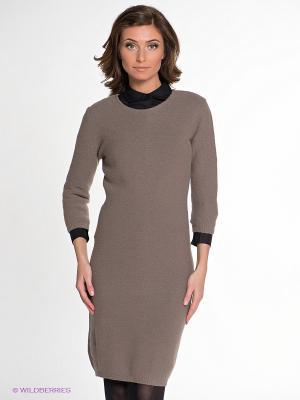 Платье IMAGO. Цвет: серо-коричневый