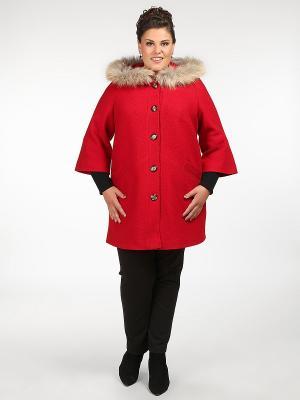 Пальто Silver-String. Цвет: красный